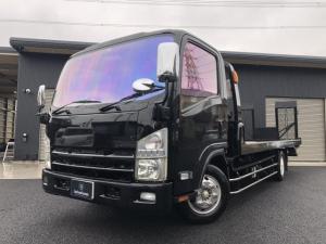 いすゞ エルフトラック  積載車 油圧リアゲート ステンレスSバンパー HIDヘッドフォグ キーレス ナビ TV ETC
