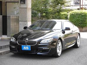 BMW 6シリーズ 640iクーペ Mスポーツパッケージ 純正ナビ フルセグTV ブラックレザーシート ガラスチルトルーフ 純正19インチAW