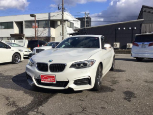 BMW 2シリーズ M235 純正ナビBluetooth対応DVD再生可 ミラー型ETC ドラレコ シートヒーター メモリー付きパワーシート スマートキー&プッシュスタート アイドリングストップクリアランスソナー 革シート