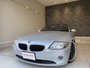 BMW Z4 2.2i 純正オーディオ 電動オープン 社外19インチAW 車高調 革シート シートヒーター MTモード付き ETC