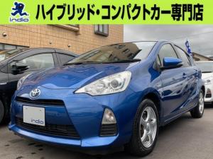 トヨタ アクア S フルセグメモリーナビ バックカメラ スマートキー ETC 衝突安全ボディ 横滑り防止装置 AW Bluetooth接続
