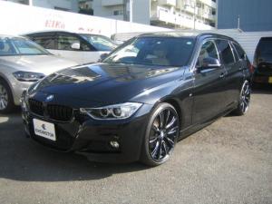 BMW 3シリーズ 320dツーリング Mスポーツ ベージュレザーシート 純正オプション20インチAW 地デジTV ACC オートトランク 1オーナー