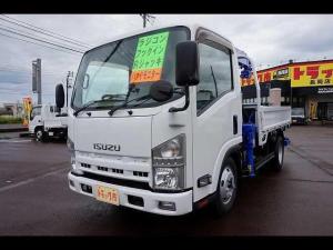 いすゞ エルフトラック 2.7t FFL 標準セミロング 4段クレーン付