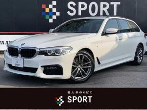 BMW 5シリーズ 523dツーリング Mスポーツ アクティブクルーズコントロール インテリジェントセーフティ 純正ナビ フルセグ 全方位カメラ パワーバックドア LEDヘッドライト Bluetooth 純正AW ETC コンフォートアクセス