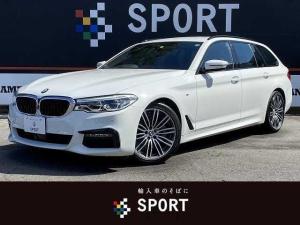 BMW 5シリーズ 523iツーリング Mスポーツ アクティブクルーズコントロール インテリジェントセーフティ 純正HDDナビ フルセグ 全方位カメラ シートメモリー パワーバックドア LEDヘッドライト ETC コンフォートアクセス 純正AW