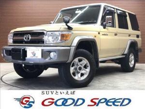トヨタ ランドクルーザー70 バン 純正メモリーナビ フルセグTV フロント・リアデフロック 電動ウインチ ETC 4WD DVD再生 Bluetooth キーレス 背面タイヤ フォグライト