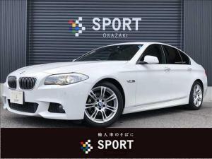 BMW 5シリーズ 523d Mスポーツ 純正HDDTV カメラ コーナーシート クルーズコントロール コーナースタート 電動ステアリング スマートキー アイドリングストップ キセノンヘッドライト mスポーツ