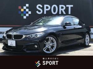 BMW 4シリーズ 420iグランクーペ Mスポーツ アクティブクルーズ インテリセーフ 純正ナビ バックカメラ 本革シート シートヒーター・メモリー パワーバックドア 純正アルミホイール HIDヘッドライト コンフォートアクセス ミラーインETC