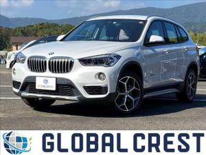 BMW X1 sDrive 18i xライン ハイラインパッケージ 衝突被害軽減ブレーキ 純正ナビ ETC バックカメラ ドライブレコーダー DVD再生 CD再生 LEDライト オートライト レザーシート シートヒーター アイドリングストップ プッシュスタート