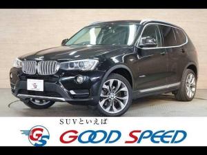 BMW X3 xDrive 20d Xライン サンルーフ 純正ナビTV トップビュー 黒革 シートヒーター アクティブクルーズ パワーバックドア パワーシート オプション19アルミ ワンオーナー コンフォートアクセス 4WD
