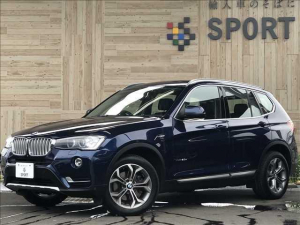 BMW X3 xDrive 20d Xライン インテリジェントセーフティ 純正ナビTV バックカメラ コンフォートアクセス ハーフレザーシート クルーズコントロール シートメモリー HIDヘッドライト ミラーインETC 純正アルミ