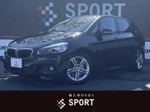 BMW 2シリーズ 218iアクティブツアラー Mスポーツ インテリジェントセーフティ 純正HDDナビ LEDヘッドライト スマートキー プッシュスタート ミラーインETC 純正17インチアルミ