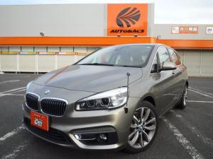 BMW 2シリーズ 218iアクティブツアラー ベージュレザー内装/衝突被害軽減ブレーキドライビングアシスト/アルミホイール/後付けフルセグTV/ナビ/ETC/バックカメラ/ソナー