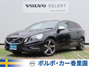iボルボ ボルボ V60 T4 Rデザイン 認定 黒本革シート 純正ナビ 純正18AW