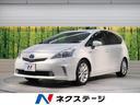 トヨタ/プリウスアルファ Sツーリングセレクション 純正SDナビ 黒革調シートカバー