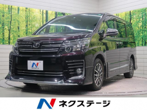 トヨタ ヴォクシー ZS SDナビ DVD再生 Bluetooth 横滑り防止機能 アイドリングストップ 衝突軽減システム 両側電動パワースライド 電動能格ミラー オートエアコン LEDヘッドライト