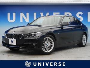BMW 3シリーズ 320iラグジュアリー 黒革シート シートヒーター 社外18インチアルミ新品タイヤ 純正HDDナビフルセグTV バックカメラ HIDヘッド コンフォートアクセス