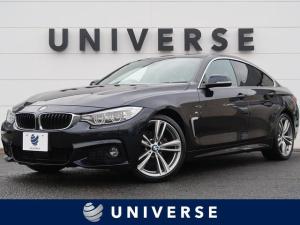 BMW 4シリーズ 420iグランクーペ Mスポーツ 黒革シート/LEDヘッドランプ/オプション19インチAW/ヘッドアップディスプレイ/衝突軽減機能/純正HDDナビ/バックカメラ/ミラー内蔵ETC/パワーシート/フォグランプ/スマートキー