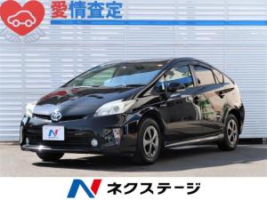 トヨタ プリウス S 純正SDナビ・バックカメラ・革シート・フルセグTV・ETC・HIDヘッドライト・オートライト・DVD再生・Bluetooth再生