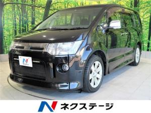 三菱 デリカD:5 ローデスト G パワーパッケージ アルパイン9型ナビ 後席モニター 両側電動ドア HIDヘッドライト オートライト スマートキー 100V電源 オートクルーズ アイドリングストップ オートライト