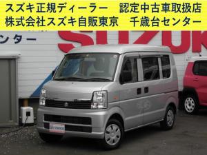 スズキ エブリイワゴン 車いす移動車 後部電動固定 リヤシート無 補助シート&車いす