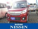 スズキ/スペーシアカスタム GS 左側パワースライドドア プッシュスタート 保証付販売車