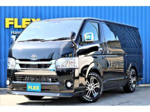 トヨタ ハイエースバン  パーキングサポート ナビ ETC インテリジェントクリアランスソナー PVM デジタルインナーミラー ローダウン FLEXオリジナルDelf02ホイール グッドイヤーナスカータイヤ フロントスポイラー