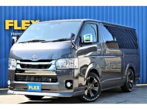 トヨタ ハイエースバン  パーキングサポート ナビ ETC バックカメラ ローダウン FLEXオリジナル17インチホイール グッドイヤーナスカータイヤ FLEXオリジナルフロントスポイラー PVM デジタルインナーミラー