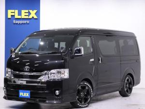 トヨタ ハイエースワゴン GL FLEXオリジナルVer1.5内装架装 デジタルインナーミラー インテリジェントクリアランスソナー パノラミックビューモニター ストラーダSDナビ ETC ALPINEフリップダウンモニター