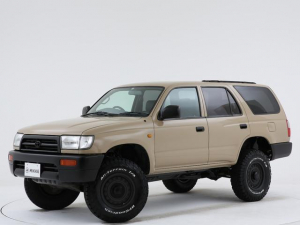 トヨタ ハイラックスサーフ SSR-Vリミテッド ワイド 全塗装済 / サンドベージュ / 新作DEANコロラドアルミ / グッドリッチ / リフトアップ / ナロー化 / シートカバー / 背面タイヤ