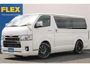 トヨタ ハイエースバン スーパーGL ダークプライムII PVM付 小窓付き FLEX ライトカスタム済