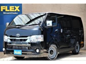 トヨタ ハイエースバン スーパーGL ダークプライムII パーキングサポート FLEXCUSTOM ナビETCベッド付き DAEN COLORADO16インチホイール ナスカータイヤ16インチ