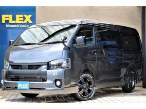 トヨタ ハイエースバン  パーキングサポート FLEXCUSTOMブラックエディション 17インチAWナスカータイヤ ナビETCベッド付き