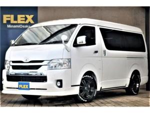 トヨタ ハイエースワゴン GL パーキングサポート FLEXシートアレンジVer1 ツインモニター 天井スピーカー