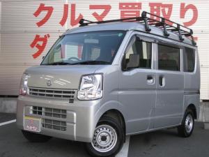 日産 NV100クリッパーバン DX 4WD/ルーフキャリア/5速マニュアル/エアコン//キーレス/純正ラバーマット/純正ドアバイザー