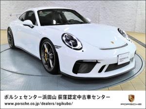 ポルシェ 911 911GT3 セラミックコンポジットブレーキPCCB LEDメインブラックヘッドライト フロントリフト レザーインテリア スポーツクロノP 18Wayアダプティブスポーツシート シートヒーター カーボンインテリアP