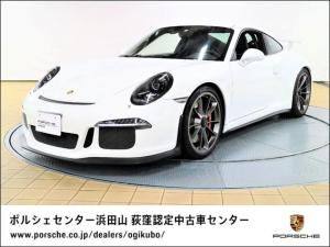 ポルシェ 911 911GT3 クラブスポーツパッケージ フロントリフトシステム スポーツクロノパッケージ スポーツバケットシート カラーシートベルト/ガーズレッド ブラックキセノンヘッドライトPDLS