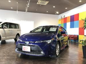 トヨタ カローラ ハイブリッド S 4WD セーフティセンス 純正9インチディスプレイオ レーダークルーズコントロール クリアランスソナー バックカメラ TEC LEDライト オートハイビーム シートヒーター 純正アルミ スマートキー