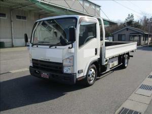 いすゞ エルフトラック ロングフラットロー ワイド フルフラットローロング 積載3t AT ハイブリッド 3.0ディーゼル ターボ NOx PM適合 ETC 車総重量6215キロ