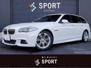 BMW 5シリーズ 523iツーリング Mスポーツ ブラウンレザー クルーズコントロール 純正HDDナビ フルセグ バックカメラ シートヒーター・メモリー パワーバックドア コンフォートアクセス 純正アルミホイール ミラーインETC