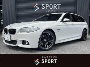 BMW 5シリーズ 523iツーリング Mスポーツ サンルーフ インテリセーフ クルーズコントロール 純正HDDナビ バックカメラ フルセグTV パワーバックドア シートメモリー CD DVD Bluetooth ETC キーレス
