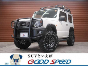 スズキ ジムニー XG 4WD 7インチディスプレイオーディオ 2.5インチリフトアップ グリルガード FUEL16インチAW ハードタイヤカバー サイドステップ オーバーフェンダー 5速MT車 ルーフラック
