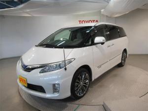トヨタ エスティマハイブリッド X 4WD フルセグ HDDナビ DVD再生 バックカメラ ETC 両側電動スライド HIDヘッドライト 乗車定員 7人  3列シート フルエアロ