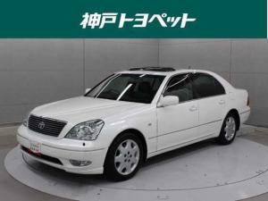 トヨタ セルシオ A仕様 eRバージョン 本革 DVDマルチ フルセグ ETC シートヒーター ムーンルーフ HIDヘッドライト